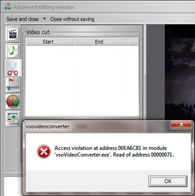 CX to Video .63B - Access Violation when clicking Video Settings icon.jpg
